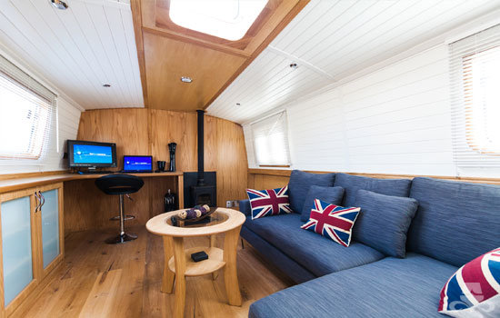 Fully fitted widebeam canal boat completed to our specification - saloon 02