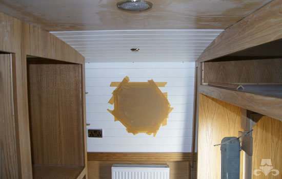2nd bedroom fit out on a new fully fitted widebeam canal boat 06