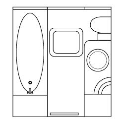 Widebeam canal boat bathroom design concept and ideas