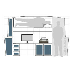 Widebeam canal boat spare room design concept 03