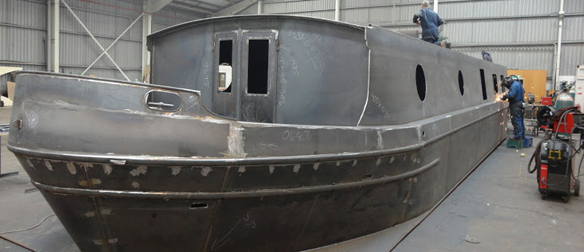 Narrowboat Widebeam Shells Sailaways The Fit Out Pontoon