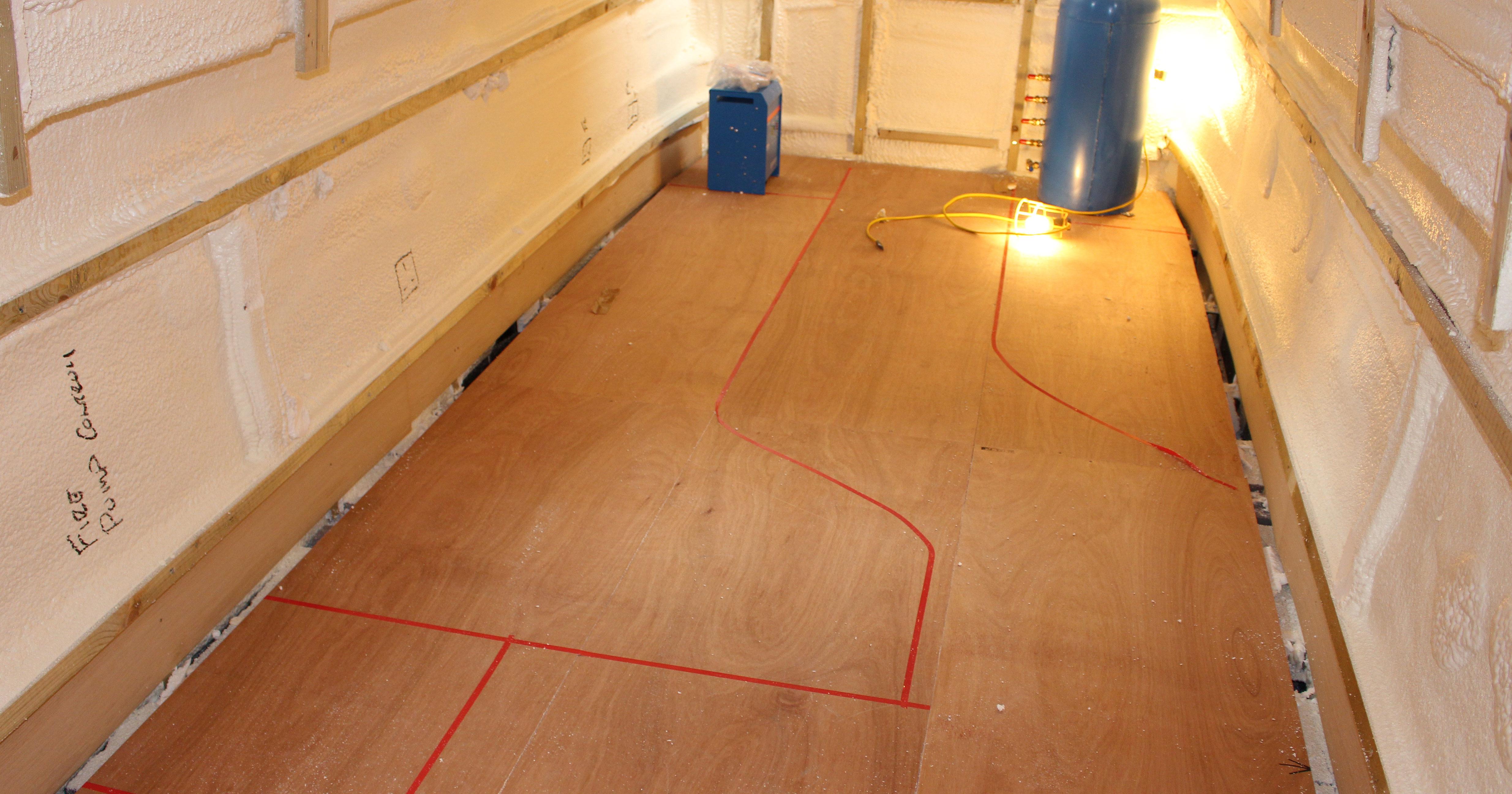 Narrowboat Sub Floor Fitting Sub Flooring On A Narrow Boat