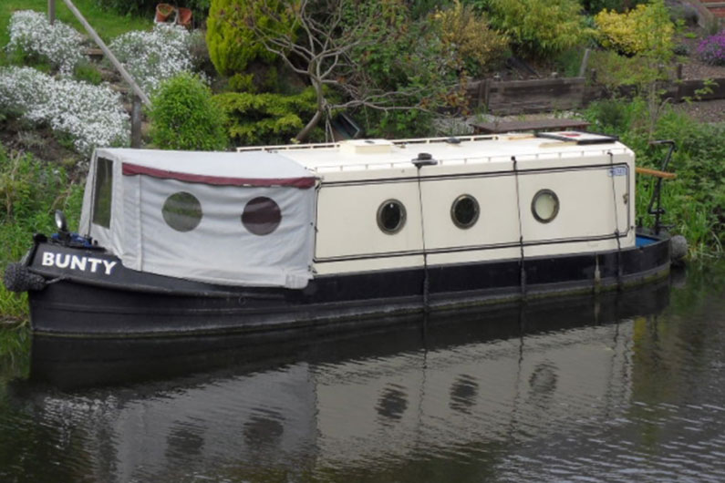 Portholes are traditionally used on a narrowboat