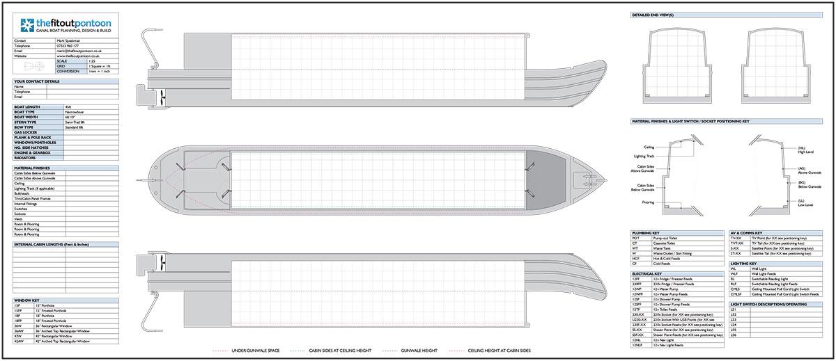 narrowboat  u0026 widebeam design plans