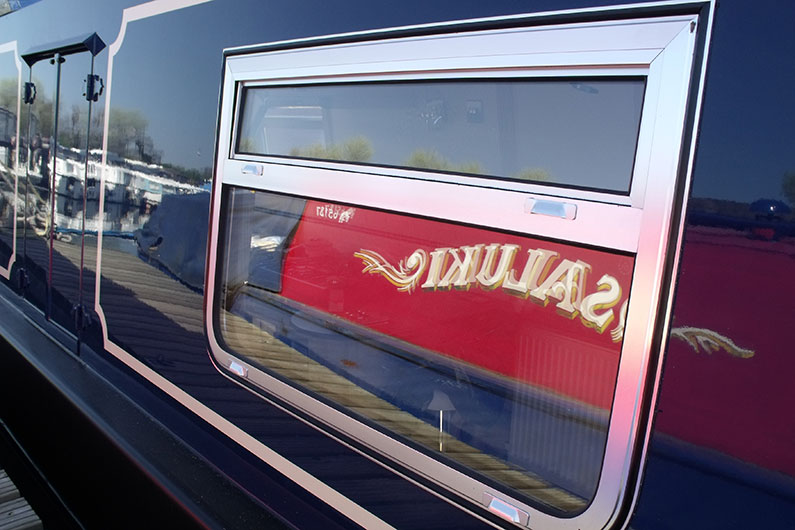Variety of window styles are available on a narrow boat