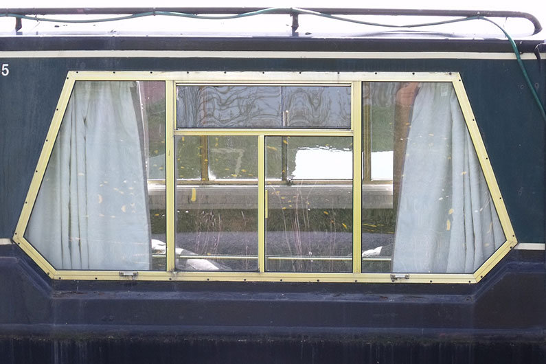 Variety of window styles are available on a narrowboat