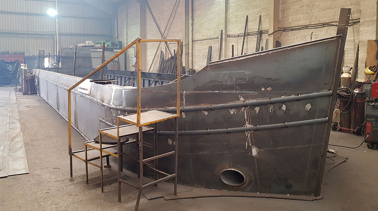 A new widebeam shell is underway ready for fitting out by our expert joiners and fitters