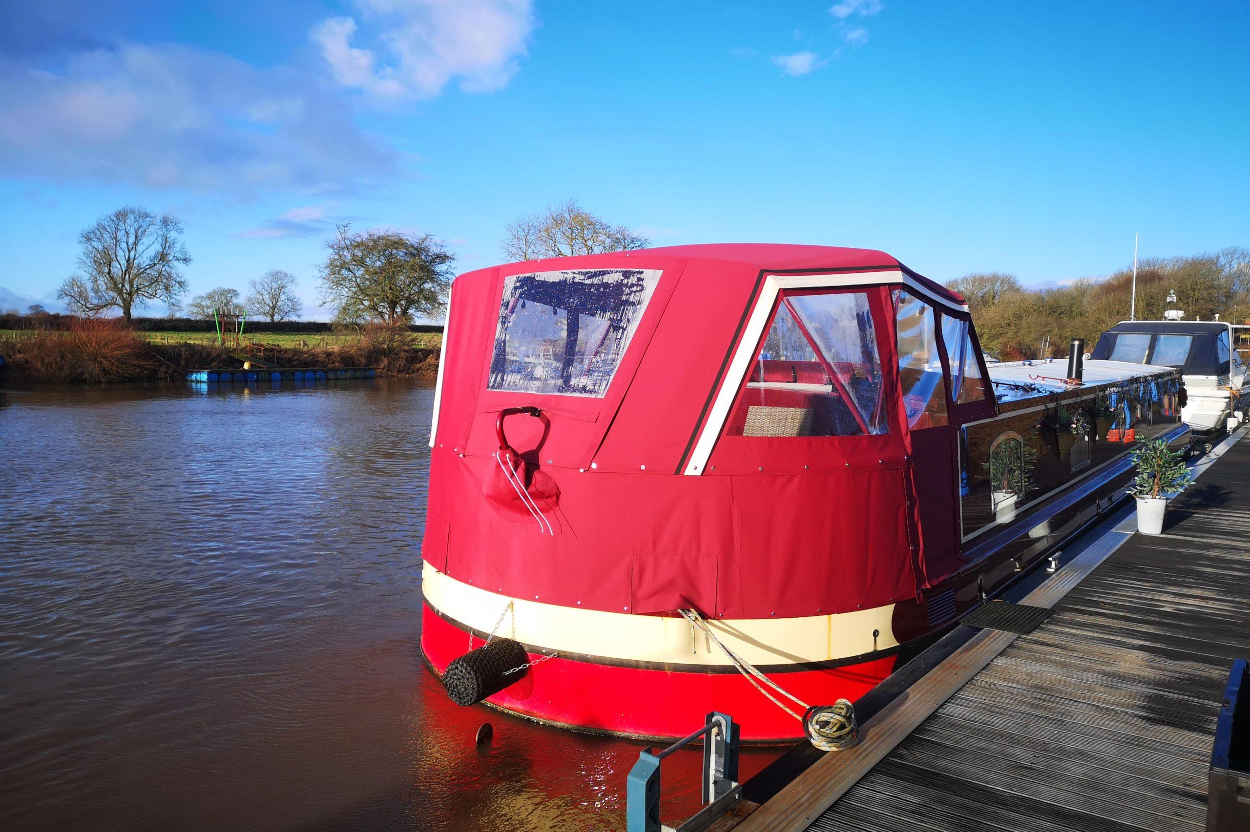 "3/"" Canopy rubber barge boat narrowboat yacht cruiser"